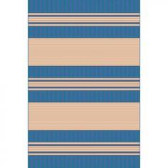 Trans Ocean Tropez Stripe Blue Indoor / Outdoor Rug - 2815/03