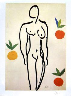 "Henri MATISSE, signed Heliolitho ""Nu aux oranges"" 1953"