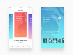 Hope you like it. Ios App Design, The Dancer, Simple App, Mobile App Ui, Movie Themes, Ui Inspiration, Mobile Design, User Interface, Pattern Design