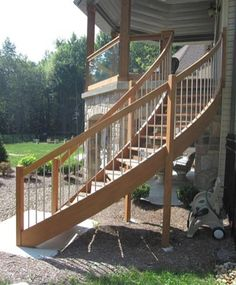 Best Curved Stairs Decks Deck Stairs Patio Stairs Deck 640 x 480