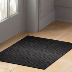 Shop Chilewich ® Black Ombre Shag Mats. Light-to-dark black yarns weave a durable indoor/outdoor mat perfect for bathrooms, kitchens, patios and entryways. Hardwearing vinyl resists mold. Shag rug is so easy to clean, just vacuum, shake or hose off. CB2 exclusive.