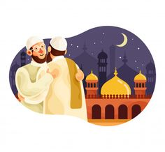 Eid mubarak with muslim men hugging each. Eid Background, Eid Mubarak Background, Eid Mubarak Banner, Eid Mubarak Wallpaper, Muslim Eid, Eid Mubrak, Ramadan Cards, Islamic Posters, Amigurumi