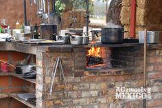 The kitchen at Deckman's en El Mogor, chef Drew Deckman.