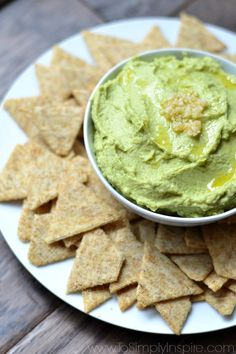 Packed with protein, thisAvocado Hummus will quickly become a favorite dipor healthy snack. Serve with your favorite crackers, warm pita bread or fresh veggies.