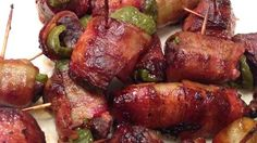 Deer Poppers--I bet 15 people asked me for the recipe. If you don't like the gamey taste of deer meat this recipe is for you!! These make great appetizers. Even people who don't like deer meat liked these!