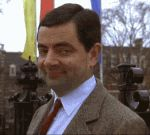 "When you meet a new CUTE friend. | Community Post: 26 ""Mr. Bean"" Reaction GIFs For Everyday Situations"