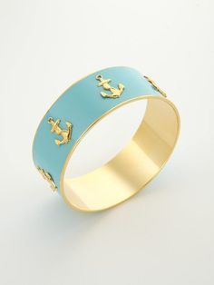 blue and gold and anchors
