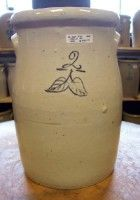 vintage butter churn. Mom and dad collected them....we had them all over the house...