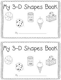 Hi Friends! Here is my 3-D shapes freebie number 2. I have one more freebie to share tomorrow. Then on Thursday and Friday my 3-D shape unit...