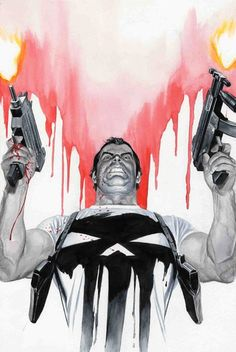 The Punisher by Alex Ross. Probably one of the most badass pieces of Punisher art ever.