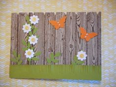 One Stampin up  card with envelope, Fence Thinking of you - pinned by pin4etsy.com