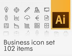 """Check out this @Behance project: """"Business stroke icon set"""" https://www.behance.net/gallery/30039693/Business-stroke-icon-set"""