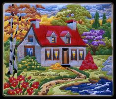 This Pin was discovered by Jan Embroidery Motifs, Silk Ribbon Embroidery, Embroidery Designs, Craft Museum, Lighthouse Painting, Stitch Pictures, Hand Applique, Plastic Canvas Crafts, Needlepoint Canvases