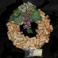 Making a Wine Cork Wreath with Recycled Wine Corks