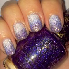 Lacquered Lover: OPI Liquid Sand Gradient Nail Art featuring Solitaire and Alcatraz,...Rocks!