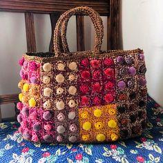 Fabric Handbags, Crochet Handbags, Fabric Bags, Crochet Purses, Crochet Bags, Crochet Accessories, Handmade Bags, Hand Crochet, Fashion Bags