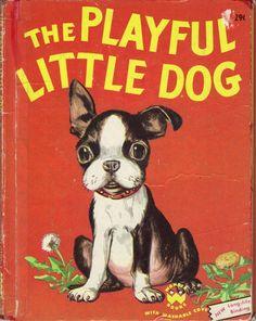 The Playful Little Dog Jean Berg 1951 via ebay