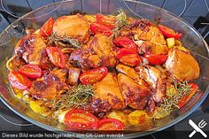 Toskanischer Hähnchenauflauf (ohne Käse)