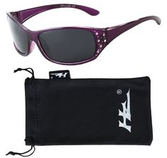 HZ Series Elettra - Women's Premium Polarized Sunglasses by Hornz - Deep Lavender Frame - Dark Smoke Lens