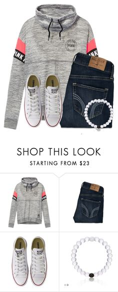 """Rainy day today☔️"" by flroasburn ❤ liked on Polyvore featuring Victoria's Secret, Hollister Co. and Converse"