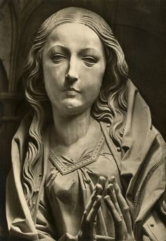 From Tilman Riemenshneider's spectacular wood carvings in the church in Creglingen, Germany Maria, The Marian Altarpiece by Tilman Riemenschneider (1460-1531), Church of God, Creglingen, Germany by Striderv, via Flickr