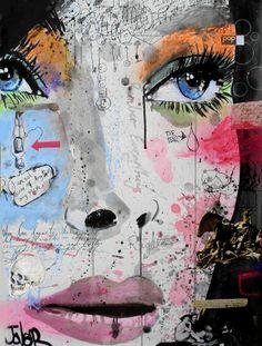 """Saatchi Online Artist: Loui Jover; Ink, 2013, Mixed Media """"speaking to yourself"""""""