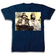 Cheech and Chong Photo Men's Short Sleeve T-shirt, Size: Large, Blue