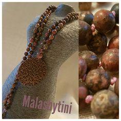 108 Mala Beads. Leopard Skin Jasper Pendant Mala. Antique Spirit Animal Totem, Your Spirit Animal, Antique Copper, Jasper, Pouch, Pendant Necklace, Beads, Antiques, Etsy