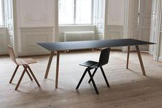 Bouroullec Collection is a minimal design created by France-based designers Ronan and Erwan Bouroullec for Hay. The collection was presented at Orgatec 2012 in Cologne. The designs are fabricated from oak and beech, and used an old wooden university trestle chair for its inspiration. (6)