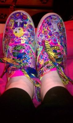 I made these Lisa Frank shoes this week!!