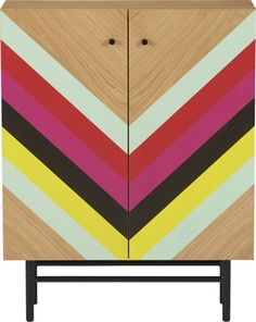 stella cabinet - love the multicolor chevron