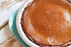 Gf pumpkin pie with crunchy almond crust