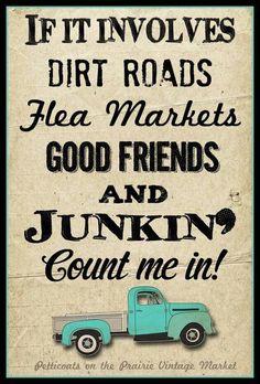Good friends and flea markets