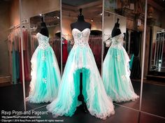 Feel like a queen in this beautiful high low mint dress with an ivory overlay…