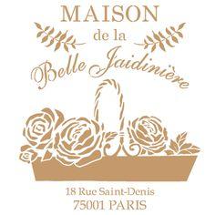 Stencil composición vintage floral http://www.todostencil.com/es/composiciones-y-vintage/2419-stencil-deco-vintage-composicion-215-maison-belle-jardin-8400000043601.html