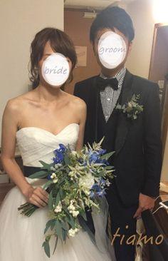 ふわふわルーズなお洒落ハーフアップスタイルの花嫁さま♡  大人可愛いブライダルヘアメイク『tiamo』の結婚カタログ Wedding Bouquets, Wedding Flowers, Wedding Dresses, Wedding Hairstyles, Hair Makeup, Groom, Hair Beauty, Hair Styles, Brides