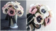 kwiaty z papieru rękoma, proste i szczegółowe master class, U, MK, zawilce z bibuły