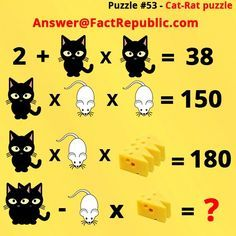 Puzzle Answer Answer is Math Riddles With Answers, Jokes And Riddles, Mind Games Puzzles, Logic Puzzles, Puzzle Games, Brain Teasers Riddles, Brain Teaser Puzzles, Logic Problems, Cat Brain