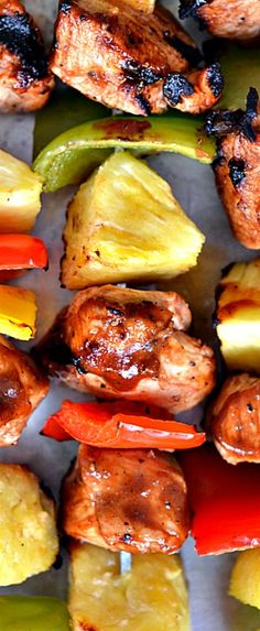 Pineapple BBQ Chicken Skewers ❊