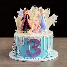 Modern Birthday Cakes, Frozen Themed Birthday Cake, Frozen Theme Cake, Themed Birthday Cakes, Birthday Cake Girls, Themed Cakes, Frozen Birthday Decorations, Disney Frozen Cake, Elsa Cakes