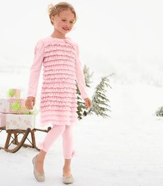 cute pink winter outfit