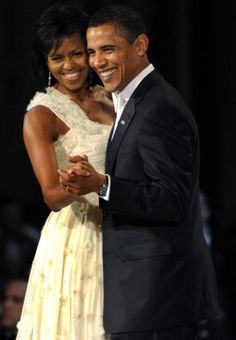 Behind every great man is definitely a great woman - Michelle Obama rocks!