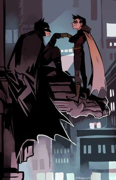 Dick Grayson and Damian