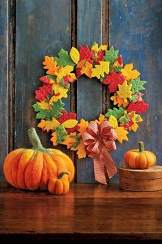 This sweet wreath is made from homemade colorful, sugar cookies. Get the tutorial.