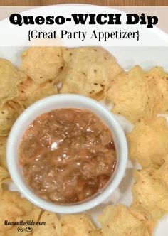 How can you not love a hot dip, like my Queso-WICH Dip when you need party food?! It makes a great party appetizer for the holidays! #YesYouCAN ad