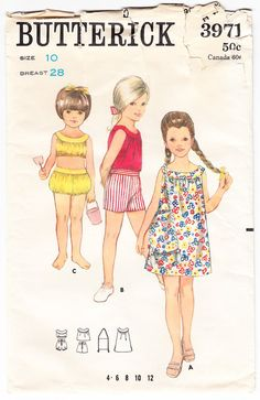 Vintage 1960s Butterick 3971 Sewing Pattern by SewUniqueClassique