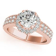 GEORGIA ENGAGEMENT RING in 14K Rose Gold - Price: ₹38,884.00. Buy now at http://www.solitairehouse.com/georgia-engagement-ring-in-14k-rose-gold.html