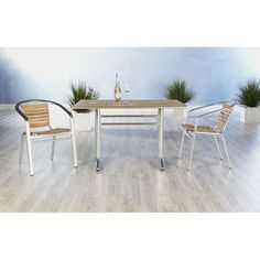 Euro Style Sherwood 7 Piece Dining Set with Shirley Stackable Chairs - EUS1848