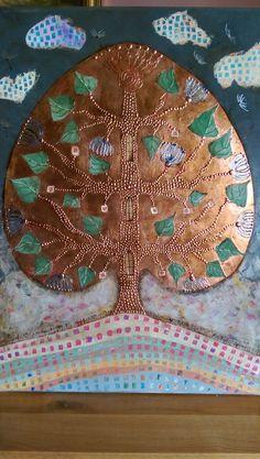 Tree of Life Tree Of Life, Tree Skirts, Christmas Tree, Paintings, Holiday Decor, Home Decor, Teal Christmas Tree, Decoration Home, Paint