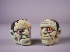 Frankenstein Ornament OOAK Needle Felted by aronlowe on Etsy